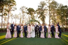 Elegant Wedding Party Attire // A Glamorous White Orlando Wedding via TheELD.com