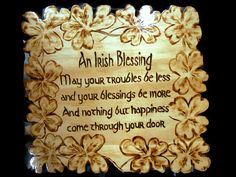 Irish Blessing 12x12 inch wood sign with burned by MacsWoodSigns