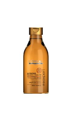 Serie Expert Nutrifier shampoo designed for dry and undernourished hair, deeply enhancing hair nutrition, while preventing splits ends and hair breakage. Nourishing Shampoo, Clarifying Shampoo, Dry Shampoo, Coco Oil, L'oréal Professionnel, Hair Breakage, Best Shampoos, Nutrition, Argentina