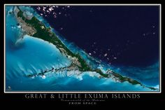 Beautifully clear imagery from late 2014 depicts the tropical paradise of Great and Little Exuma.    Terra Prints satellite and aerial views of Earth are conversation starters for sure. They give you an amazing new sense of where you live, work or play.