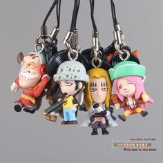 11.75$  Watch now - http://ali5n4.shopchina.info/go.php?t=1822602316 - 9pcs/set Anime One Piece Supernova Trafalgar Law Hawkins Bonney Eustass Kid Mini PVC Figure Toys Phone Rope Pendants  11.75$ #magazineonlinebeautiful