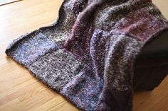 Weekend Stashbuster Afghan | AllFreeKnitting.com  - Uses four strands of yarn at a time on size 19 needles.