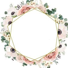 Flowery Wallpaper, Flower Background Wallpaper, Framed Wallpaper, Flower Backgrounds, Deco Baby Shower, Instagram Frame Template, Free Printable Stationery, Eid Cards, Wreath Drawing