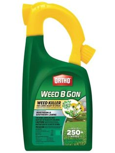 Ortho 0410005 Weed B Gon Weed Killer for Lawns, 32 Oz Get Rid Of Dandelions, How To Kill Grass, Turf Builder, Weed Killer Homemade, Weed Spray, Weeds In Lawn, Growing Weed, Yard Care, Weed Control