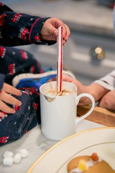 We can't get enough of House of Harper's adorable son, Knox, and he can't get enough of our hot chocolate! #GivingGODIVA