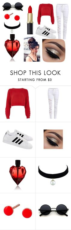 """""""sassy red look"""" by perry4871 on Polyvore featuring River Island, adidas and A.L.C."""