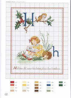 Vintage Children with Alphabet Cross Stitch Pattern Cross Stitch Pillow, Cross Stitch Letters, Cross Stitch For Kids, Cross Stitch Books, Just Cross Stitch, Cross Stitch Art, Cross Stitch Needles, Cross Stitch Samplers, Cross Stitch Designs