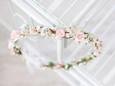 ♥ Blumenkranz mit Blüten und Blättern ♥