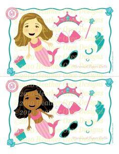 paper doll mermaids