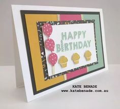 SU! Party Wishes stamp set; It's My Party Designer Series Paper (DSP); Party Punch Pack - Kate Benade