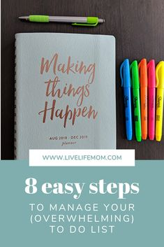 8 easy steps to manage your (overwhelming) to-do-list – Live. Time Management Tips, Bujo Key, How To Be More Organized, Daily List, Things To Do Today, Task To Do, Priorities List, Frugal Family, It's Meant To Be