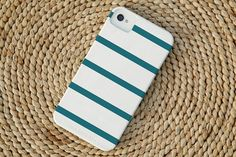 Skinny Stripe iPhone Case in Deep Sea by christinemarieb on Etsy, $37.50