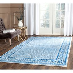 Found it at Wayfair Supply - Alisa Silver & Blue Area Rug