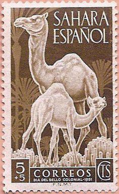 Sello Sáhara Occidental, Día del Sello Colonial 1951 - Portal Fuenterrebollo