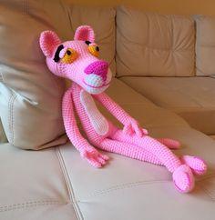 pantera rosa Amigurumi (tutorial schema)/How to crochet pink panther Ami...