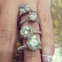 Tacori..... honestly if it's big enough it'll be beautiful no matter what shape it's cut into