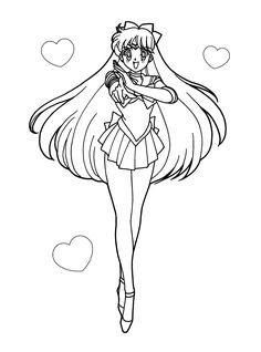 Sailor Moon Coloring Pages Super Sailor Venus from Printable Sailor Moon Coloring Pages. On this page, there are a lot of coloring pictures to color, paint, or whatever. We have different coloring pages from Sailor Moon. Sailor M. Sailor Moon S, Sailor Venus, Sailor Moon Birthday, Sailor Moon Coloring Pages, Bear Coloring Pages, Cartoon Coloring Pages, Coloring Books, Shopkins Colouring Pages, Princess Coloring