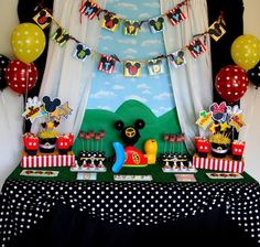 16 Mickey Mouse Clubhouse Birthday Party Dessert Table
