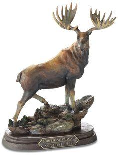 Majestic Bull Moose Sculpture