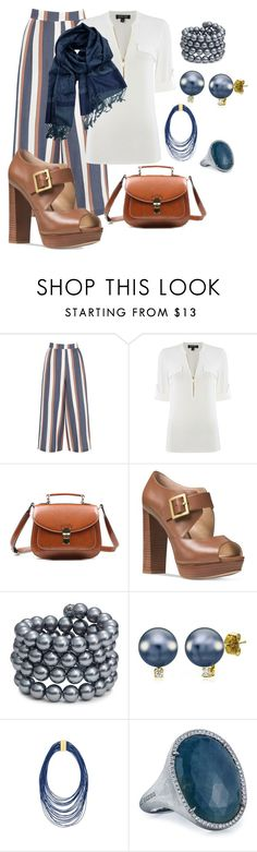 """""""Lunch in Santa Fe"""" by sommer-reign ❤ liked on Polyvore featuring Warehouse, Episode, Michael Kors, Kenneth Jay Lane and Marco Bicego"""