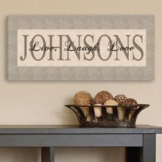 Live, Laugh, Love Personalized Decor