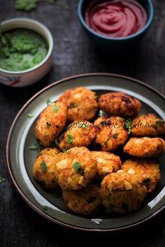 Leftover Rice Cutlets (Tikki) - Binjal's VEG Kitchen