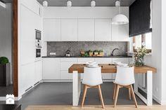 Al. Rzeczpospolitej - Średnia otwarta kuchnia w kształcie litery l, styl nowoczesny - zdjęcie od Patryk Kowalski Architektura i projektowanie wnętrz