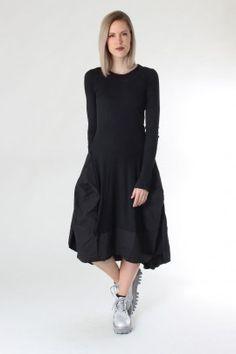 Balloon dress - black gum