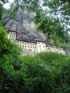 The Sümela (Soumela) Monastery: a Greek Orthodox monastery dedicated to the Virgin Mary (Panagia) at Melá mountain, in the Trabzon Province of modern #Turkey.