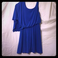 Shut up, you blonde Becky Royal blue dress for any occasion, from brunch to wedding crasher. 95% polyester 5% spandex. Worn once and gently. Jessica Simpson Dresses One Shoulder