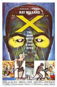 The Man with X-ray Eyes from Vintage horror movie posters Horror Movie Posters, Classic Movie Posters, Cinema Posters, Movie Poster Art, Horror Movies, Cinema Film, Drive In, Retro Horror, Vintage Horror