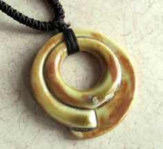 Carved Porcelain Donut      Ceramic Beads and by marlasmud