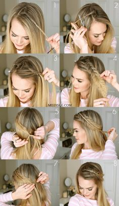Hair Styles For School 12 super easy hairstyles for those lazy days – steps … – … Super Easy Hairstyles, Braided Hairstyles Tutorials, Cool Hairstyles, Hairstyle Ideas, Braid Tutorials, Easy Ponytail Hairstyles, Straight Wedding Hairstyles, Curling Wand Hairstyles, Easy Hairstyles For Medium Hair For School