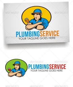 Plumbing Service Logo — Vector EPS #service #plumbing • Available here → https://graphicriver.net/item/plumbing-service-logo/7285661?ref=pxcr
