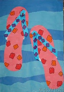 summer flip flops--great art activity!