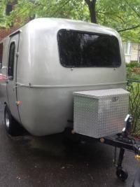 Jupiter love pod moon-mobile scamp, diamond plate trailer box.