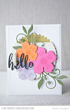 Flashy Florals Card Kit - Keisha Campbell  #mftstamps