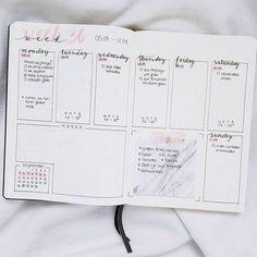 minimal fine line Bullet journal weekly layout // bujo ( Bullet Journal Design, Bullet Journal Organisation, Bullet Journal Weekly Layout, Bullet Journal 2019, Bullet Journal Spread, Bullet Journal Inspo, Journal Diary, My Journal, Journal Inspiration