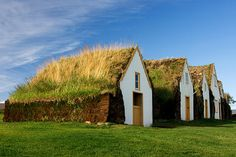 Turf homes in Akureyri, Iceland.