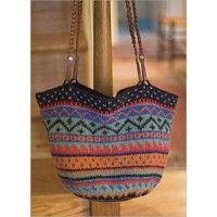 Felted Fair Isle Bag | InterweaveStore.com