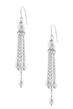 4.5-8mm White Freshwater Pearl Chandelier Earrings