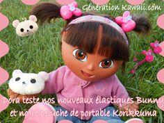 Dora a chipé nos élastiques Bunny et notre peluche de portable Korilakkuma => coquine ^_^*