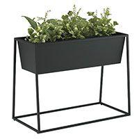 PLANTER BOX / プランターボックス Herb Planters, Metal Planters, Planter Boxes, Rak Display, Interior Garden, Dining Area, Room Inspiration, Bar Stools, Green