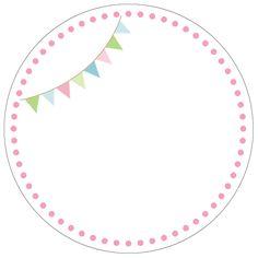 Banderín - motivo cupcake