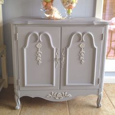 French Paris Gray cabinet - color idea for my bedside table