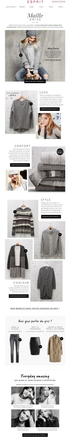 Esprit Newsletter | Grey Knitwear