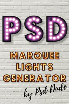Check out my Photoshop marquee lights generator. Create awesome text effects  with just a few clicks.  This is a premium Photoshop action that will transform your text into lightbulb letters being a true marquee lights generator for Photoshop.  Just follow the steps as shown in the video Photoshop tutorial and you will get some amazing effects. Best Photoshop Actions, Free Photoshop, Photoshop Effects, Text Effects, Photoshop Tutorial, Photoshop Video, Marquee Letters, Marquee Lights, Vintage Light Bulbs