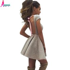 Gagaopt 2016 Summer Party Dresses Princess Open Back Bow Backless Dresses O neck Women Dresses Free Shipping Vestidos Robes-in Dresses from Women's Clothing & Accessories on Aliexpress.com | Alibaba Group