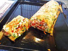 Chefkoch.de Rezept: Ofenpfannkuchen mit Gemüse und Feta