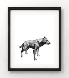 Downloadable Art Abstract Wolf Wolf Sketch Home Decor by fileclerk Abstract Wolf, Abstract Art, Modern Art, Contemporary Art, Wolf Sketch, Wolf Spirit, Minimalist Art, Moose Art, Handmade Gifts